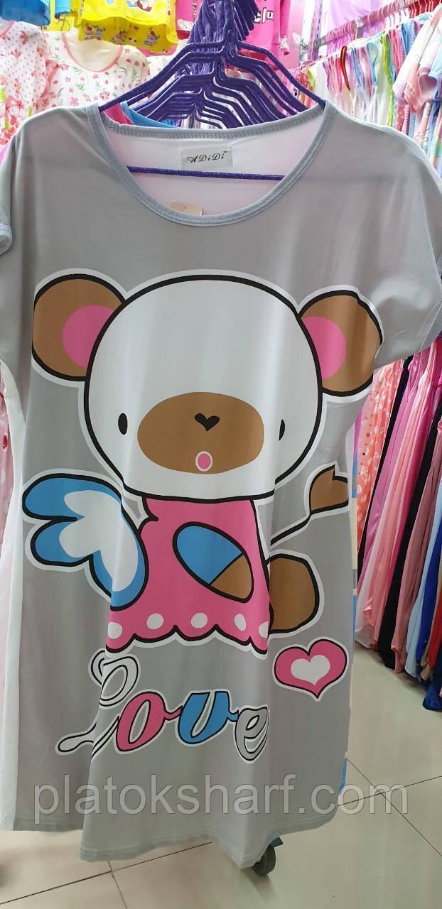 Ночная рубашка для женщин большого размера, шикарные ночнушка 50-56