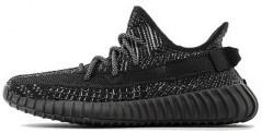 """Мужские кроссовки Adidas Yeezy 350 """"Black Reflective"""" (в стиле Адидас )"""