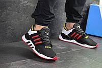 Мужские кроссовки в стиле Adidas Equipment 91/18, сетка, кожа, пена, черные с белым 44 (28 см)