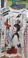 """Молодежные туники ночнушки красивые 46-50 """"Фотопринт"""", фото 1"""