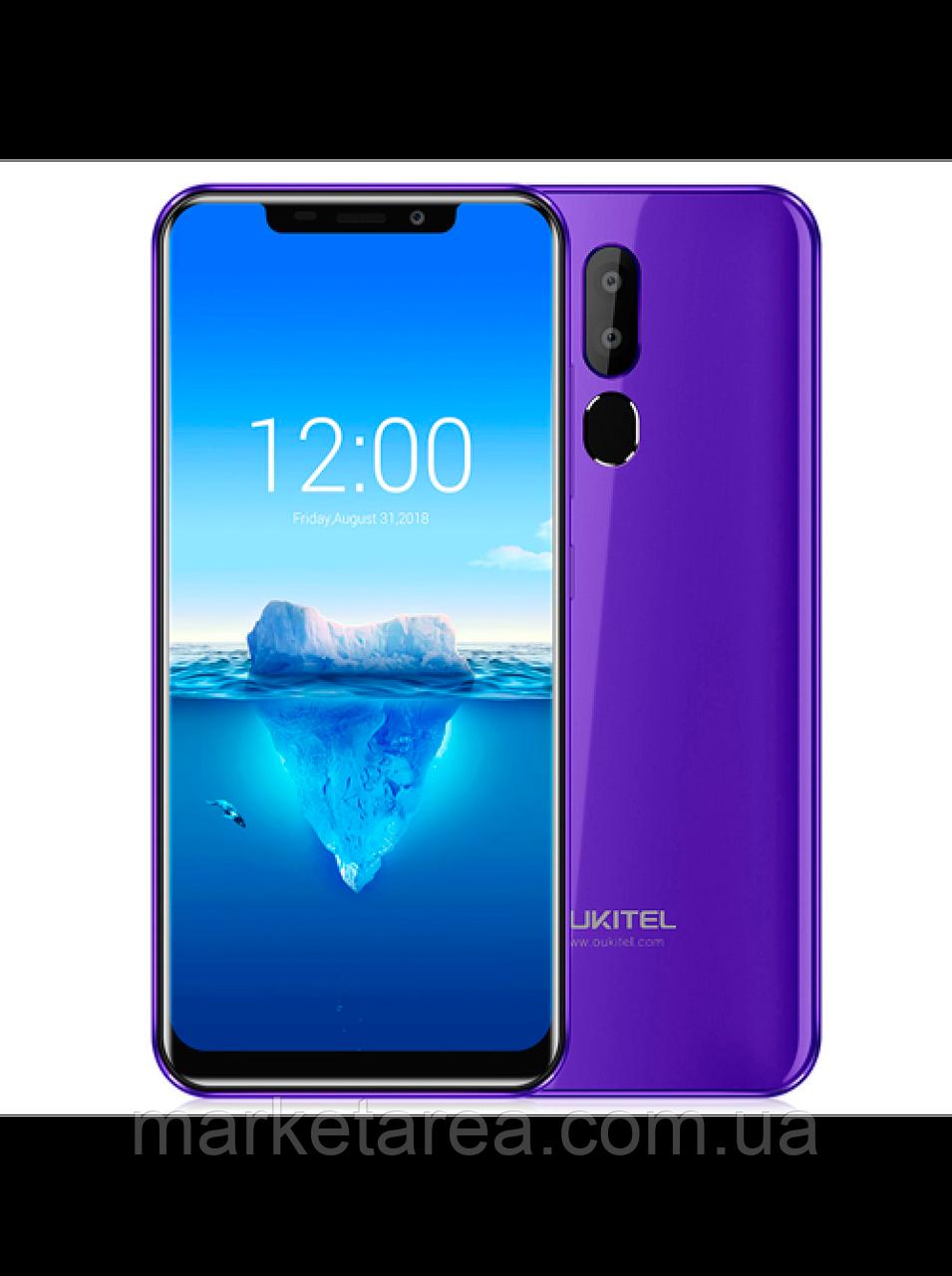 Смартфон оукител фиолетовый с большим экраном и сканером отпечатка пальца на 2 симки OUKITEL C12 purple 2/16Gb