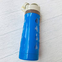 Бутылка для воды «Капельки», на шнурке  600 мл Синий