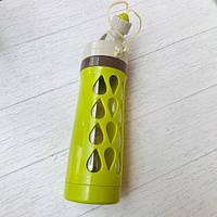 Бутылка для воды «Капельки», на шнурке  600 мл Салатовый