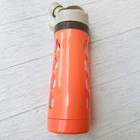 Бутылка для воды «Капельки», на шнурке  600 мл Оранжевый