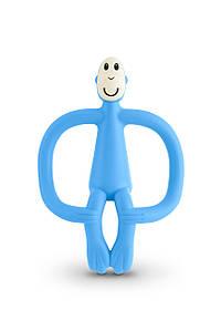 Іграшка-прорізувач Мавпочка для дітей з 3-х міс. ТМ MATCHISTICK MONKEY Блакитний MM-T-007