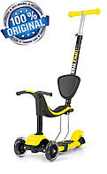 Самокат-беговел с сиденьем 3в1 Milly Mally Scooter Little Star (Польша), желтый, фото 1