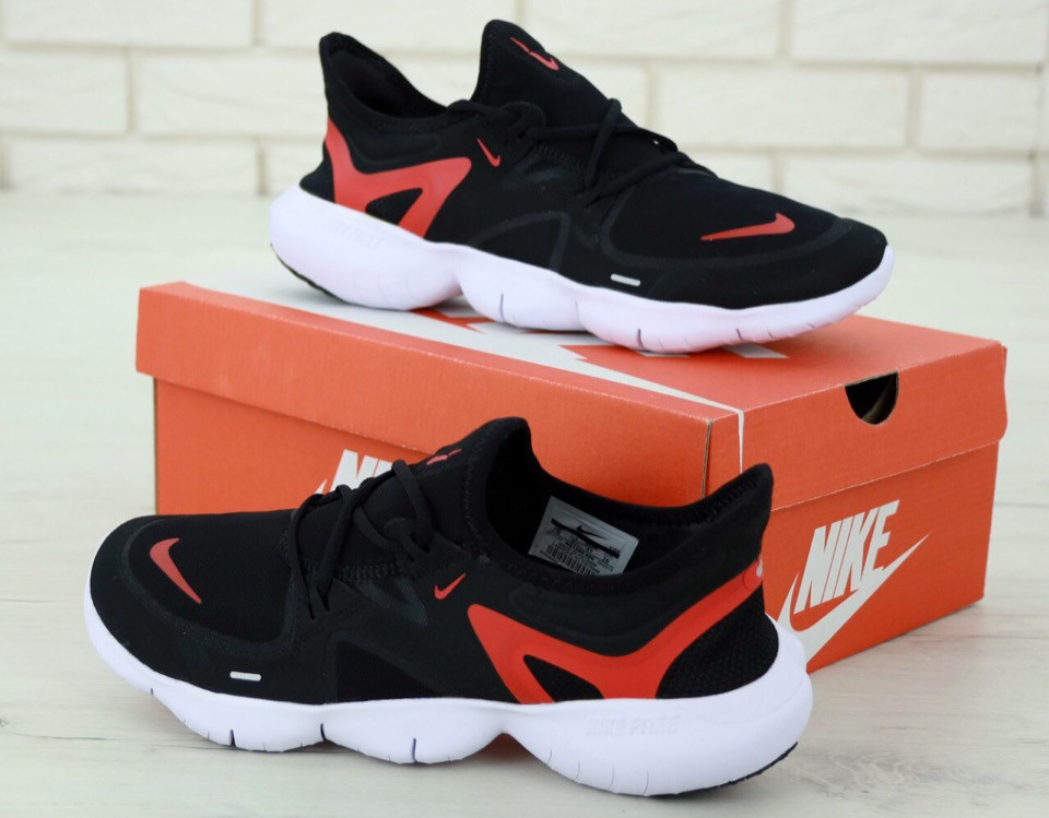 Мужские кроссовки Nike Free Run Black & Red