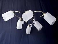 Люстра на 6 лампочек для низких потолков AB (античная бронза) P3- 37391/6C (AB+WT)