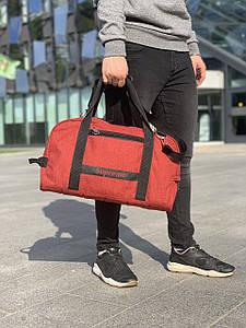 Мужская сумка для тренировок через плечо красного цвета 47*26*17 см