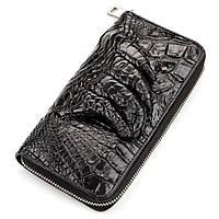 Клатч CROCODILE LEATHER 18172 из натуральной кожи крокодила Черный, Черный