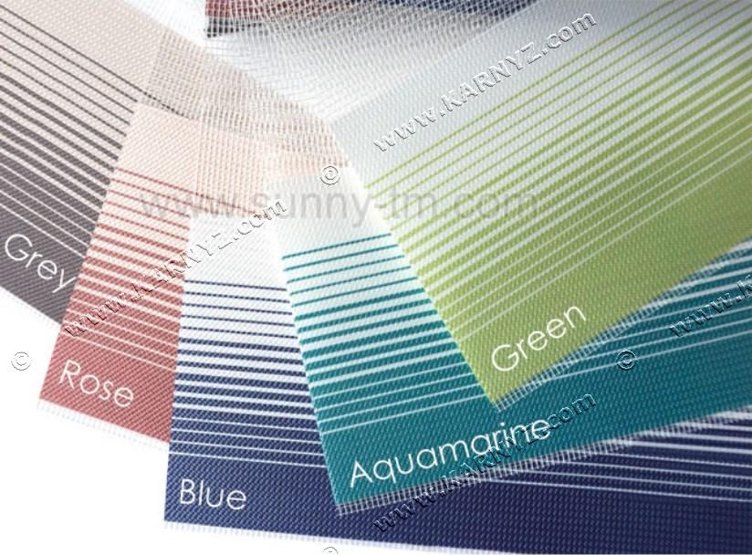 Рулонні штори День-Ніч Флорида аквамарин, зелений, синій, рожевий, сірий