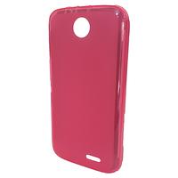 Силиконовая полупрозрачная накладка Lenovo A560 Розовый