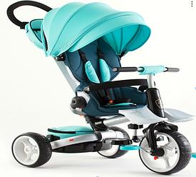 Детский велосипед-коляска  6 в 1 Crosser T-600 Rosa  бирюзовый  ***