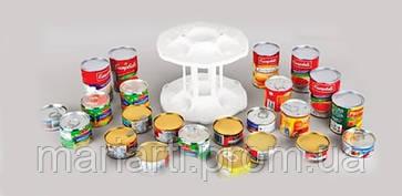 Вращающаяся двухуровневая подставка для банок и консервов Can Tamer, фото 3