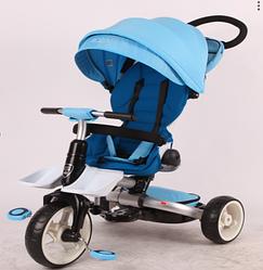 Детский велосипед-коляска  6 в 1 Crosser T-600 Rosa  голубой   ***