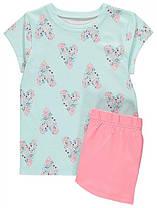 Летняя пижама для девочки (футболка+шорты)