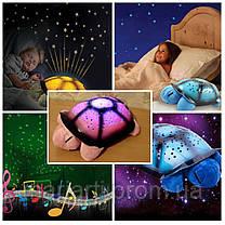 Ночник «Черепашка», проектор звездного неба Twilight turtle +USB шнур!, фото 2