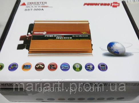 Преобразователь 12V-220V 500W, фото 2
