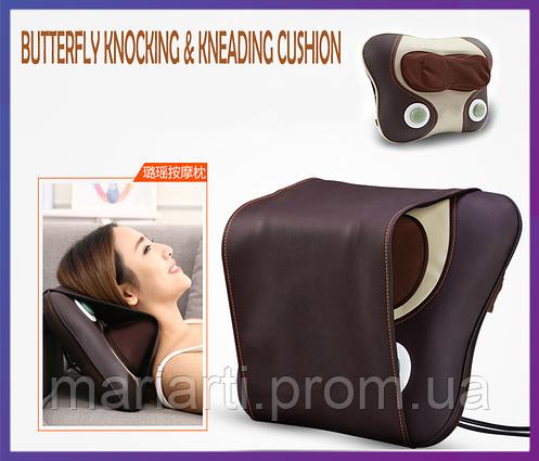 Массажнная подушка для шеи и плеч Butterfly Knocking & Kneading Cushion, Качество, фото 2