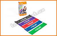 Тренажер резинка (комплект из 5 штук) для фитнеса и аэробики, Фитнес-резинка, резиновая петля.