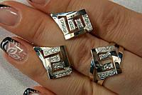Ювелирный гарнитур серебряных украшений