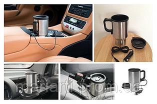Автомобильная термокружка с подогревом от прикуривателя, фото 2