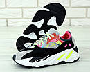 """Жіночі Кросівки Adidas Yeezy Boost 700 """"Wave Runner Pink"""" Kaws, фото 2"""