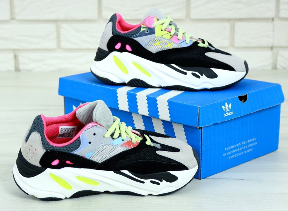 "Жіночі Кросівки Adidas Yeezy Boost 700 ""Wave Runner Pink"" Kaws"
