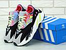 """Жіночі Кросівки Adidas Yeezy Boost 700 """"Wave Runner Pink"""" Kaws, фото 4"""
