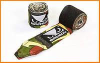 Бинты боксерские (2шт) хлопок-эластан 3.5 м Камуфляж , фото 1