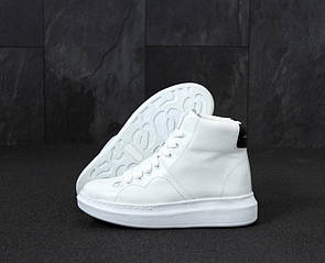 Женские Кроссовки Alexander McQueen High White Black 39