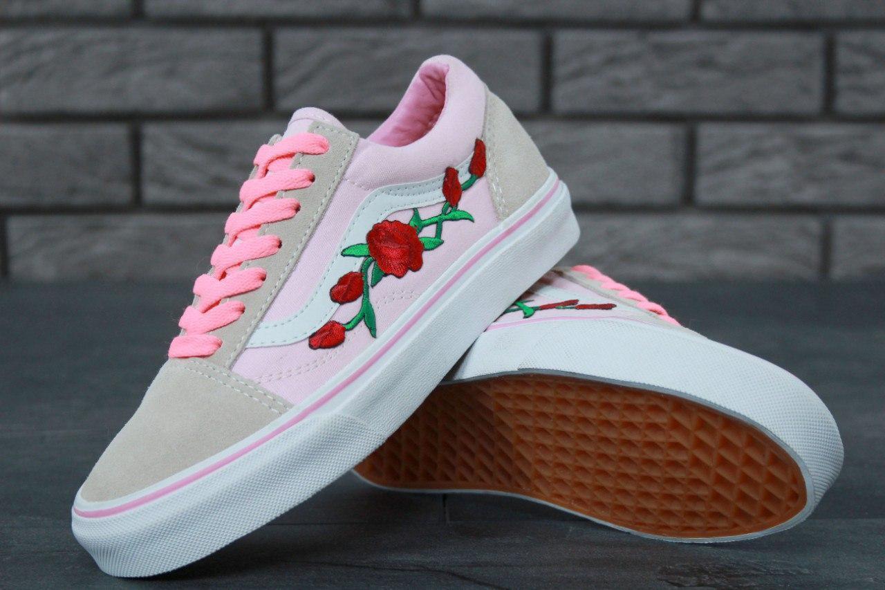 Женские кеды Vans Old Skool Rose,розовые