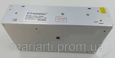 Сетевой адаптер 12V 20A METAL,блок питания, зарядное устройство, фото 2