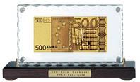 Подарочная купюра  в сусальном золоте на подставке 500 EURO