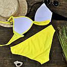 Купальник женский раздельный желтый, фото 2