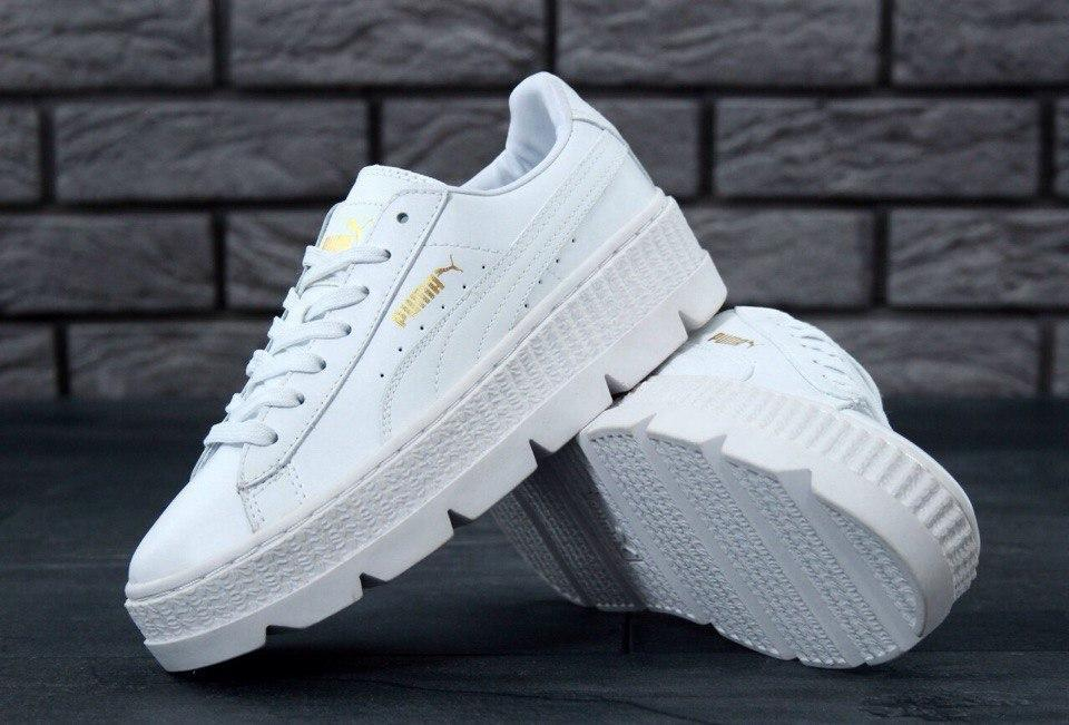 the latest a47c6 54735 Женские Кроссовки Rihanna x Puma Fenty Cleated Creeper White
