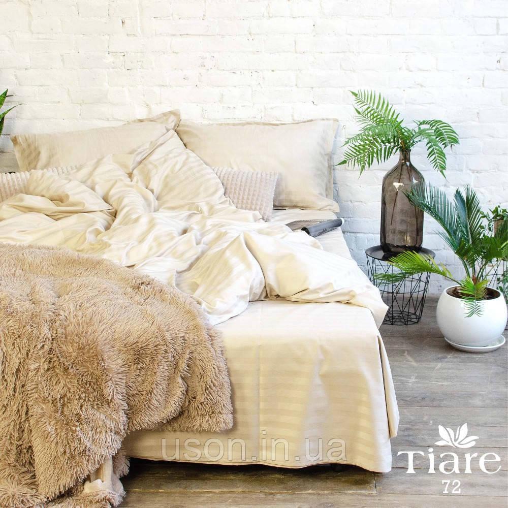 Комплект постельного белья страйп сатин Тиара евро размер 72