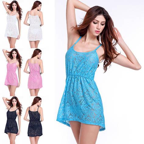 Женское пляжное платье  AL-7031-20, в наличии голубой цвет, фото 2
