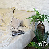 Комплект постельного белья страйп сатин Тиара евро размер 72, фото 2