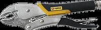 Клещи 32D856 Topex зажимные, 225 мм, закругленные губки, прорезиненные