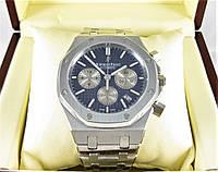 Часы Audemars Piguet Royal Oak Offshore 41mm Chronograph. Silver/Blue. Реплика: ELITE., фото 1