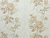 Обои на стену, винил на флизелине, премьера К534-01, роза, беж, 1,06*10м