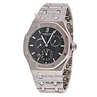 Часы Audemars Piguet Royal Oak 42mm (Механика ETA) Silver/Black. Реплика: ELITE.
