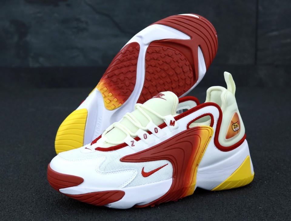Мужские Кроссовки Nike Zoom 2K, White Orange Red