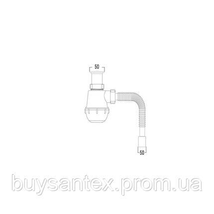 Krono Сифон (Т1050) для умывальника, выпуск 70 мм (выход 50 мм), фото 2