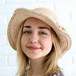 Летняя соломенная шляпа с цветами, фото 2