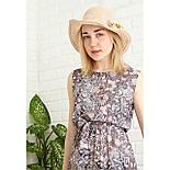 Летняя соломенная шляпа с цветами, фото 4