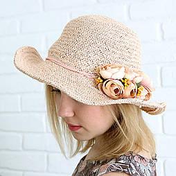 Летняя соломенная шляпа с цветами