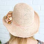 Летняя соломенная шляпа с цветами, фото 6
