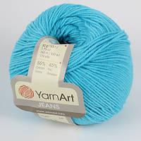 Yarnart Jeans (ЯрнАрт Джинс) № 33 бирюзовый (Пряжа полухлопок, нитки для вязания)